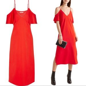 T Alexander Wang red off shoulder dress